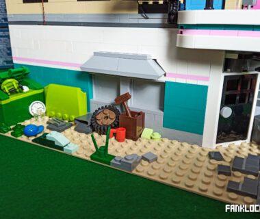 Uliczka za LEGO 10260 Bistro w śródmieściu