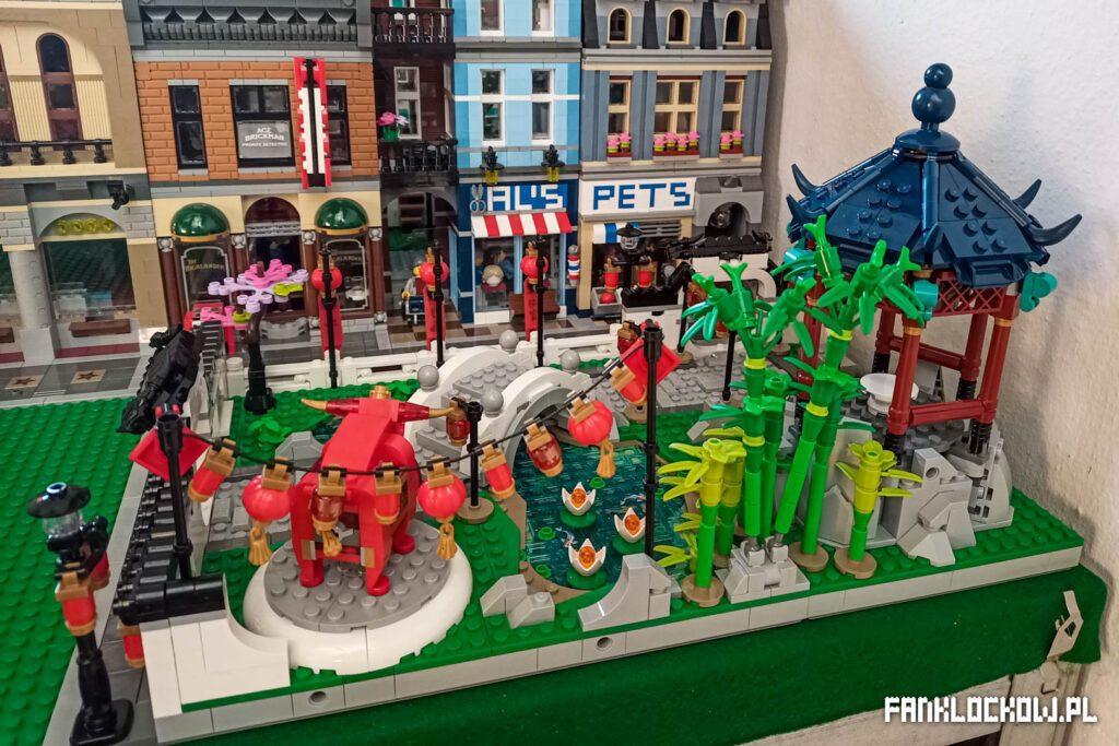 LEGO Chińskie święto latarni - wstępne zagospodarowanie