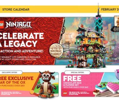 LEGO Februrary 2021 Store Calendar - okładka