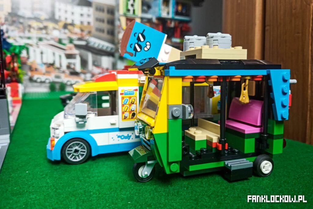 LEGO® 40469 - model w zestawieniu z vanem z City