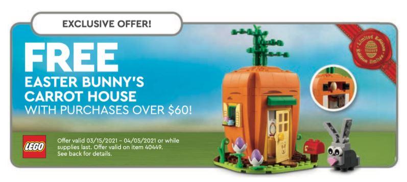 LEGO GWP marzec 2021 - Domek zająca