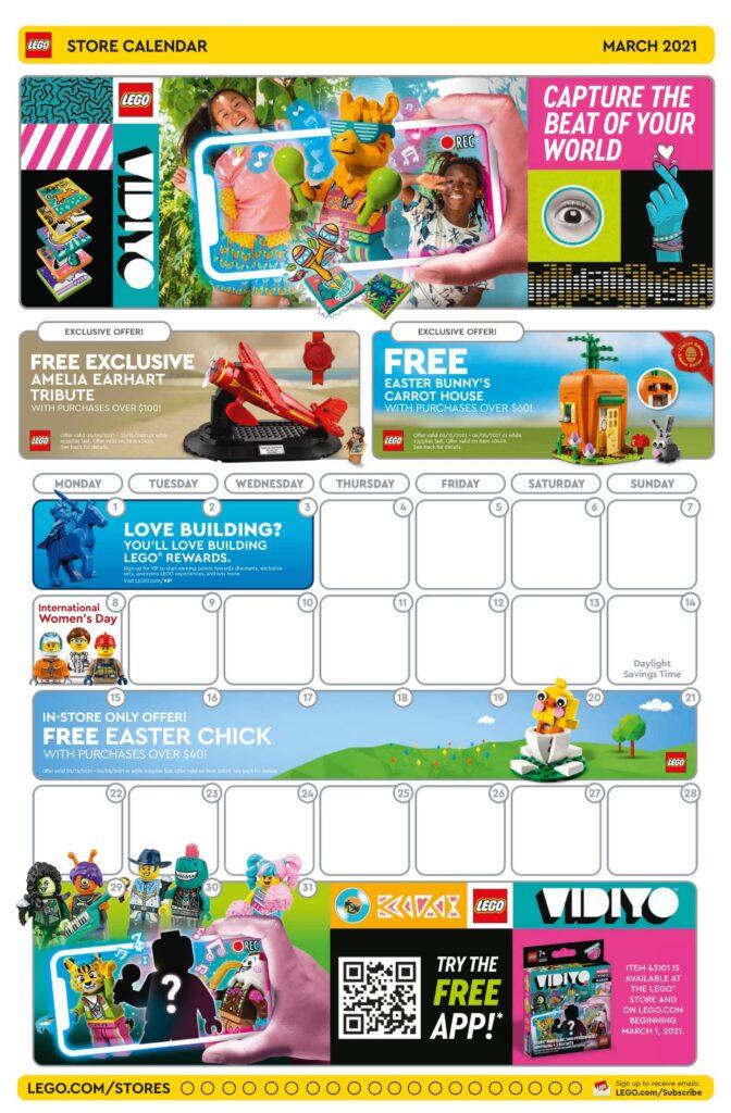LEGO - kalendarz sklepowy na marzec 2021