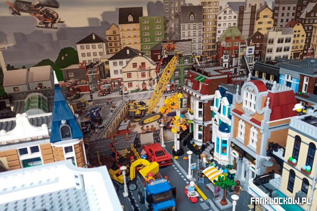 Makieta LEGO - przykład zabudowania płytki