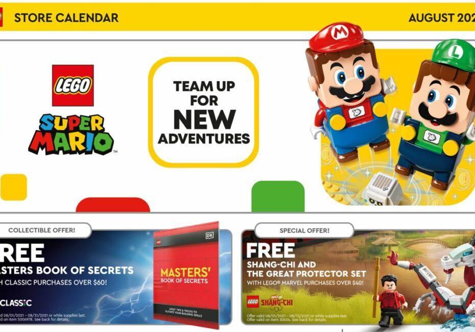 Kalendarz LEGO sierpien 2021
